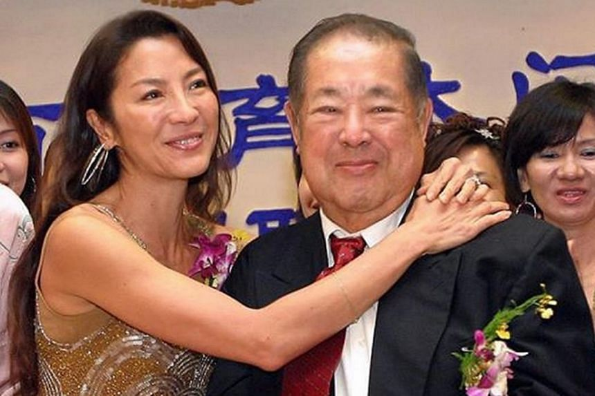 A file photo of Michelle Yeoh and her father, Datuk Yeoh Kian Teik. -- PHOTO: THE STAR/ASIA NEWS NETWORK