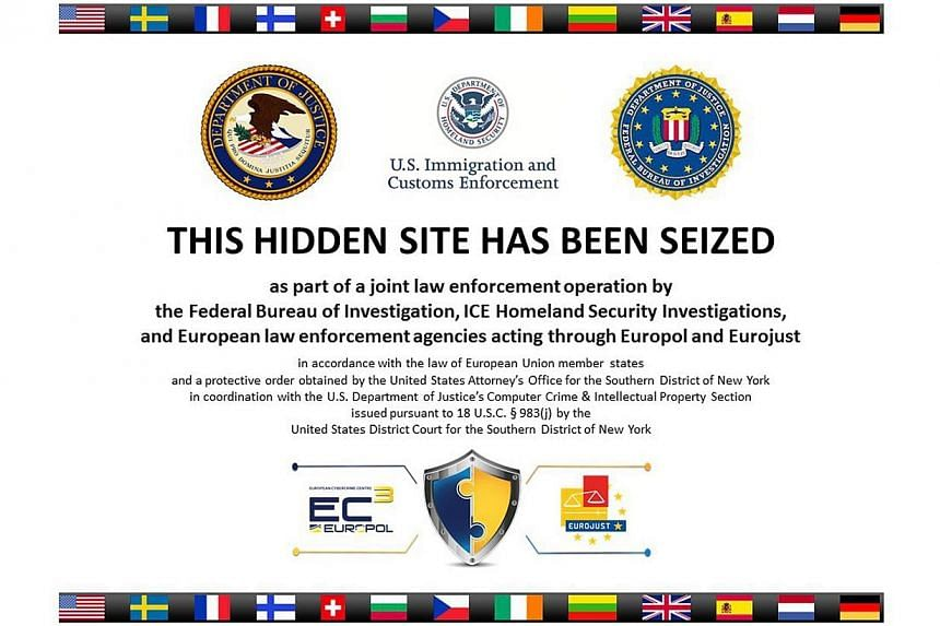 The homepage to Silk Road 2.0, allegedly an underground drug market, is seen in a screenshot after it was closed by U.S. authorities on Nov 6, 2014.US and European authorities have arrested 16 suspected members of underground drugs and weapons