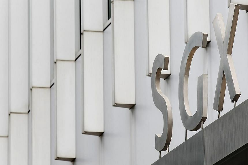 The Singapore Exchange (SGX) building. Singapore shares fell on Friday despite general optimism about improving employment in the United States, the world's biggest economy. -- PHOTO: BUSINESS TIMES FILE