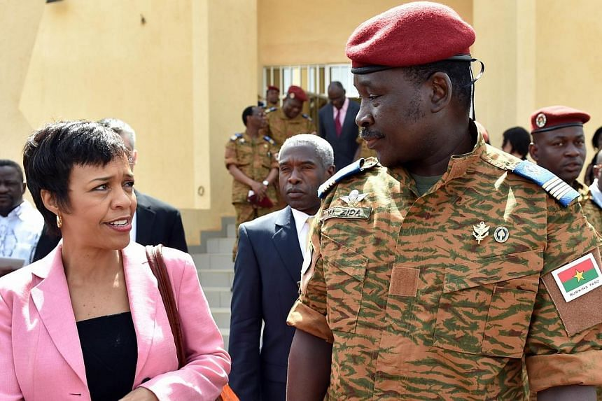 US Deputy Assistant Secretary for African Affairs Bisa Williams talks on Nov 8, 2014, met with the army-named leader of Burkina Faso, Lieutenant-Colonel Isaac Zida, after a meeting in Ouagadougou.A senior US official met Saturday with the army-