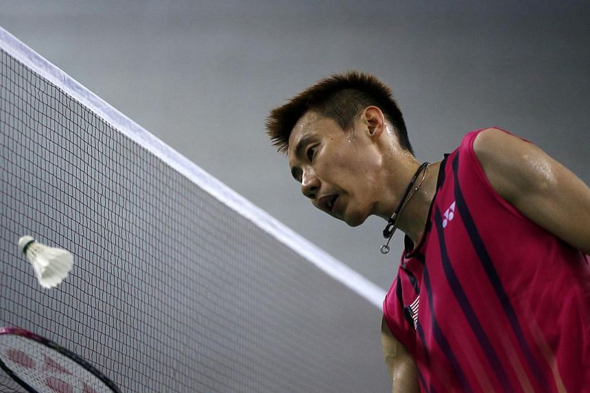 Malaysia's Lee Chong Wei at Gyeyang Gymnasium during the 17th Asian Games in Incheon on Sept 28, 2014. -- PHOTO: REUTERS