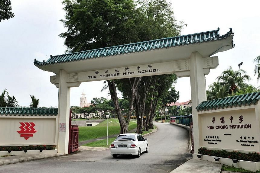 Hwa Chong Institution (above) is among the four schools that will offer the new subject from next year. -- ST FILE PHOTO