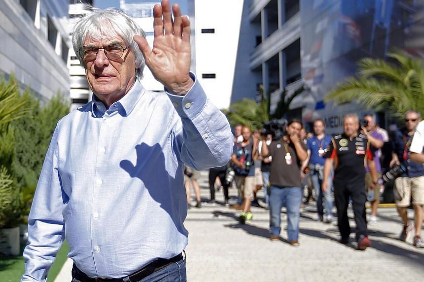 """Formula One supremo Bernie Ecclestone slammed Caterham's plan to raise funds from fans as a disaster for the sport on Saturday and ruled out putting any money of his own in the """"begging bowl"""". -- PHOTO: REUTERS"""