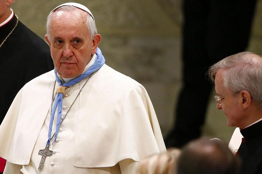 Pope Francis on Saturday demoted an outspoken conservative American cardinal who has been highly critical of the pontiff's reformist leadership of the Roman Catholic Church. -- PHOTO: REUTERS