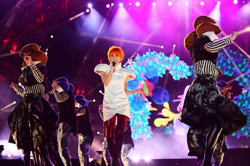 Stefanie Sun performing at the National Stadium on July 5, 2014.The Singapore Hit Awards on Nov 7 evening capped a triumphant comeback by home-grown pop star Sun.Kepler was her first album since she became a wife and mother, and she swept