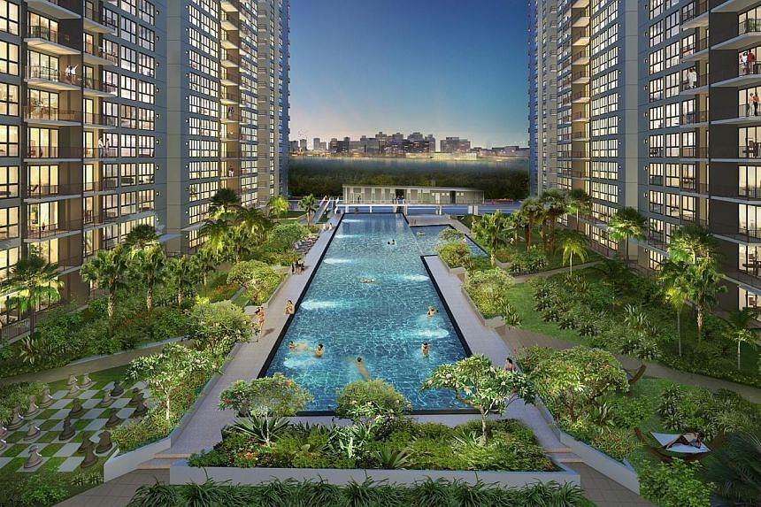 Executive condominium Lake Life (artist's impression pictured) has capped off a solid weekend, selling 98 per cent of units by Sunday. -- PHOTO:EVIA REAL ESTATE