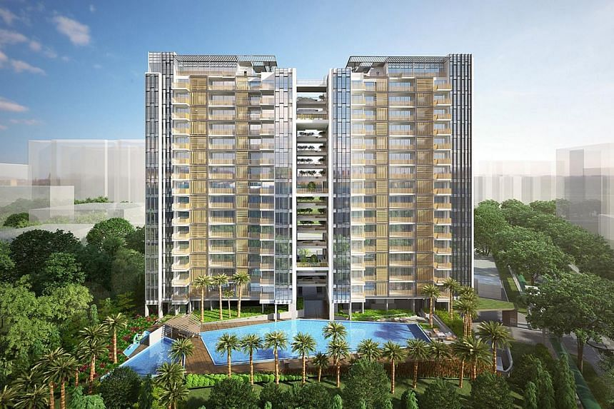 Artist's impression of TRE Residences, a 250-unit condominium in Geylang. -- PHOTO: TRE RESIDENCES
