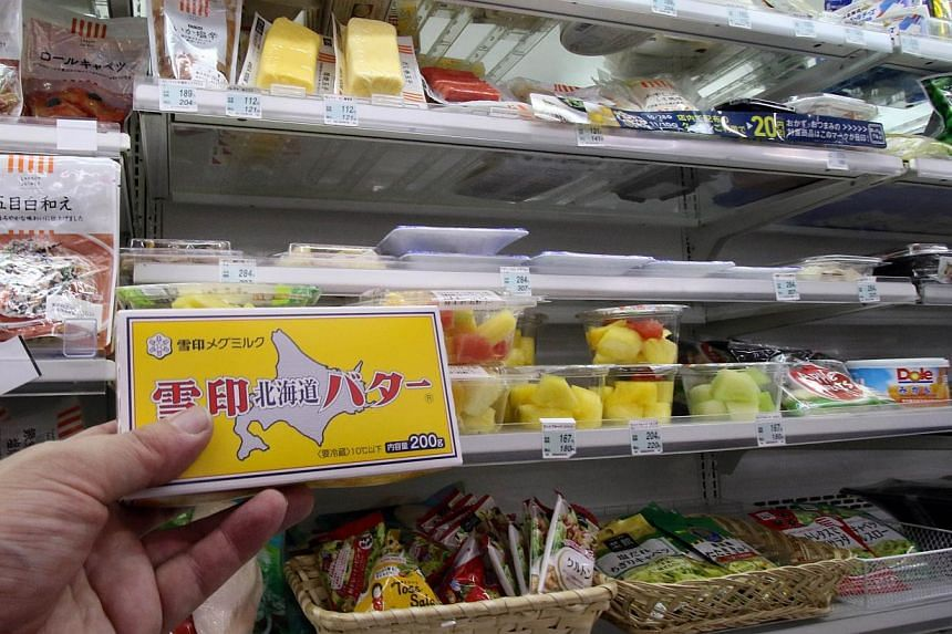 Some grocers in Japan have been limiting sales of butter to one block per customer. The agriculture ministry said the problem is linked to a broiling summer that left the nation's cows exhausted and unable - or unwilling - to generate their usual mil