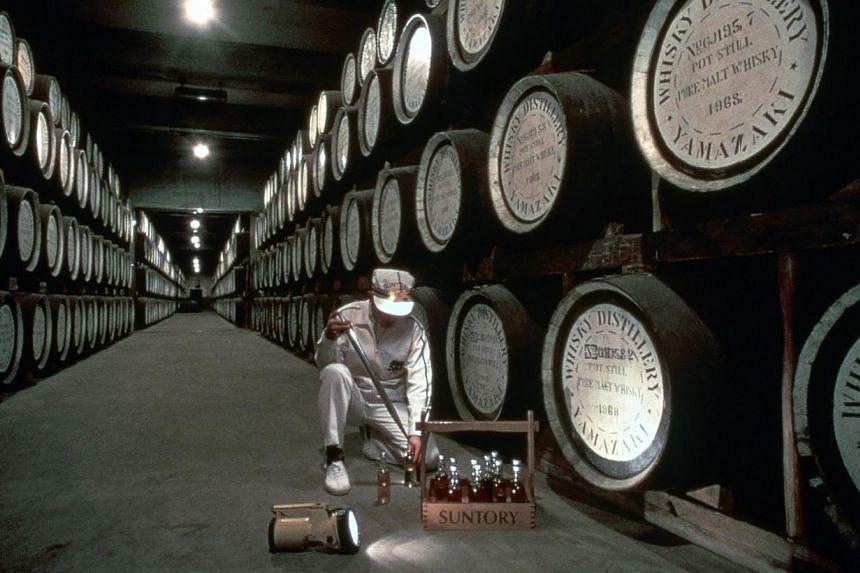 Only 18,000 bottles of the world's best whisky, the Yamazaki Single Malt Sherry Cask 2013, were produced by Suntory (above), Japan's oldest whisky distillery. -- PHOTO: YAMAZAKI