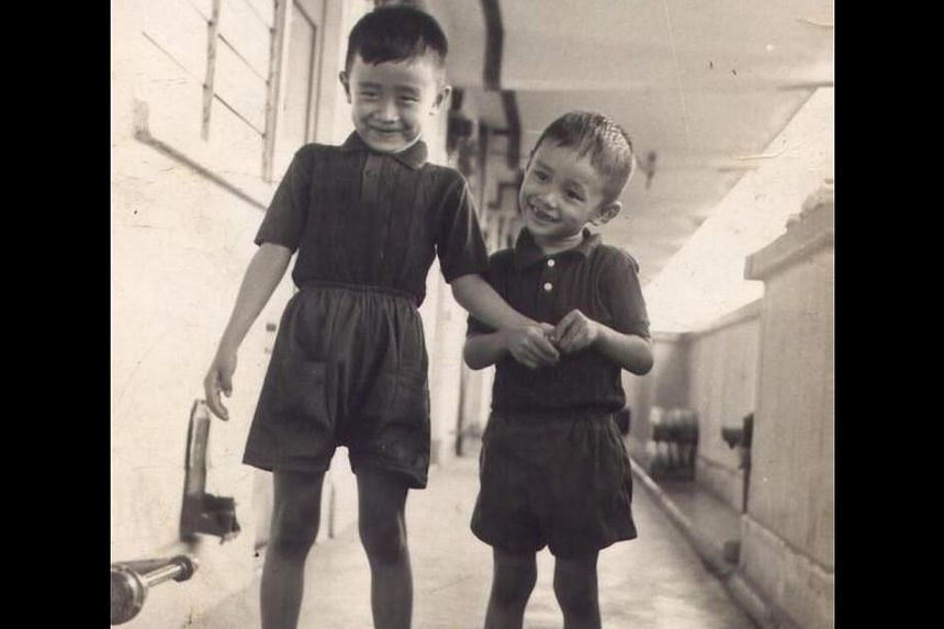 Mr Low Cheong Kee with his younger brother Cheong Yew. -- PHOTO: COURTESY OF LOW CHEONG KEE