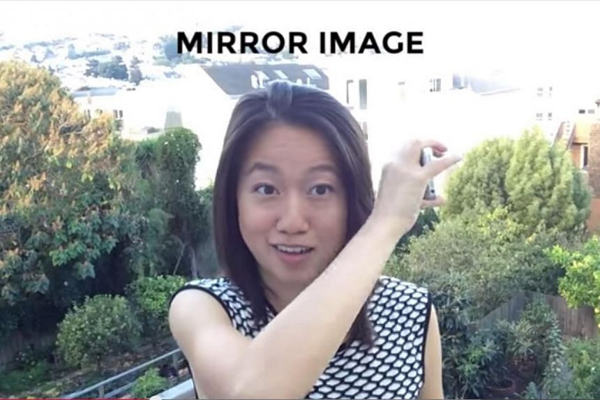 Former Microsoft employee Karen X. Cheng showing how to create a 360-degree donut selfie. -- PHOTO: SCREENGRAB FROM YOUTUBE