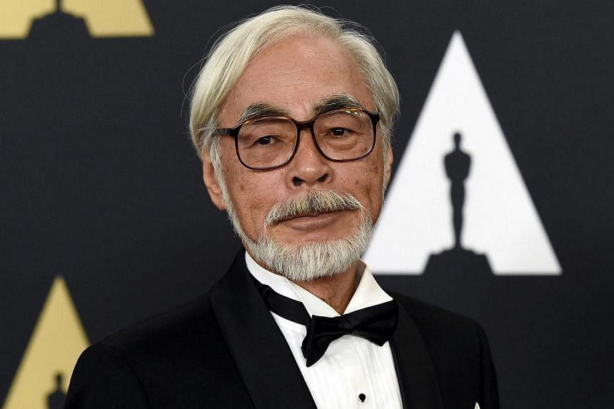 Honoree Japanese film director and animator Hayao Miyazaki poses during the Academy of Motion Picture Arts and Sciences Governors Awards in Los Angeles, California on Nov 8, 2014. -- PHOTO: REUTERS