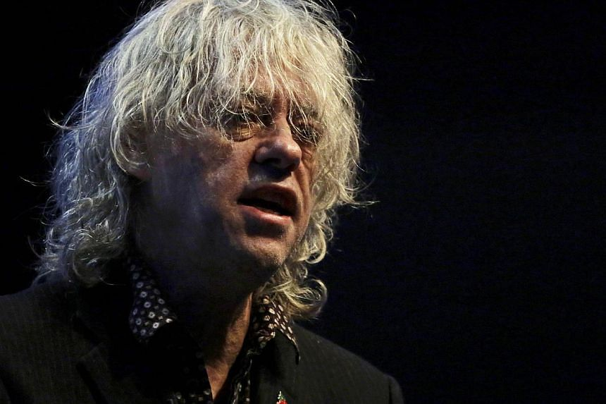 Musician Bob Geldof speaks at the Microsoft future decoded conference at the ExCel centre in London on Nov 10, 2014. Musician and philanthropist Geldof, who in 1984 inspired a generation of rock stars to record a charity single for Africa, will raise