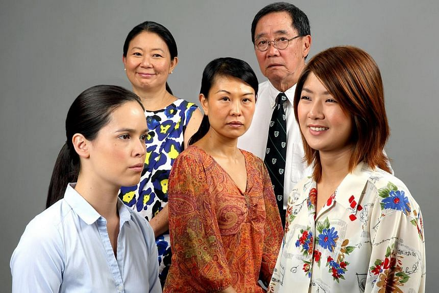 The Way We Go's cast (from far left) Julie Wee, Neo Swee Lin, Lydia Look, Patrick Teoh and Chng Xin Xuan.