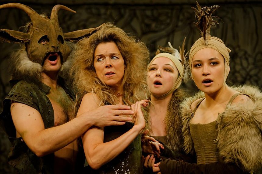 One of the two roles award-winning actress Janie Dee will take on in A Midsummer Night's Dream is fairy queen Titania (second from far left).