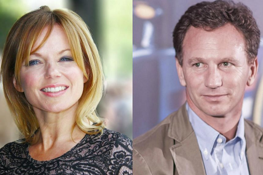 Former Spice Girl Gerri Halliwell (left) and Red Bull team principal Christian Horner announced their engagement in a British newspaper on Tuesday. -- PHOTOS: WIKIMEDIA COMMONS