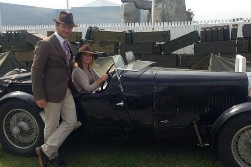 Gerri Halliwell and Christian Horner in a photo on her Twitter page. -- PHOTO: TWITTER/GERRI HALLIWELL