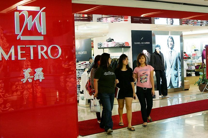 Property group and department store operator Metro Holdings doubled its second quarter net profit to $61.2 million. -- PHOTO: ST FILE