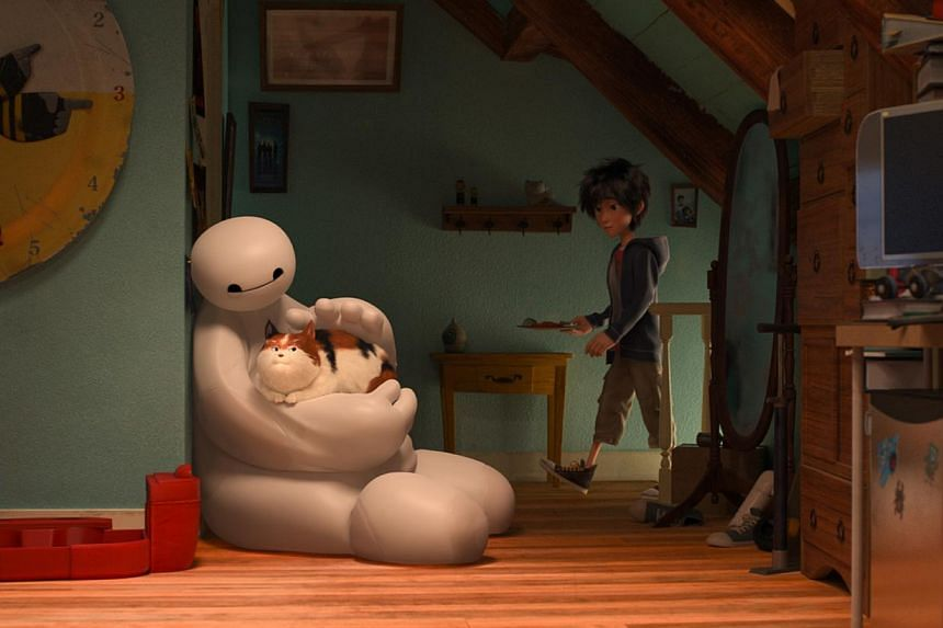 A huge part of Big Hero 6's appeal comes from big and fluffy Baymax, the bot hero of the piece. -- PHOTO: WALT DISNEY PICTURES