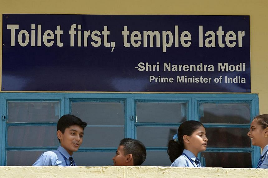 The Indian state of Gujarat wants to make it mandatory for anyone standing for public office to have a toilet at home, in order to discourage the common practice of open defecation. -- PHOTO: AFP
