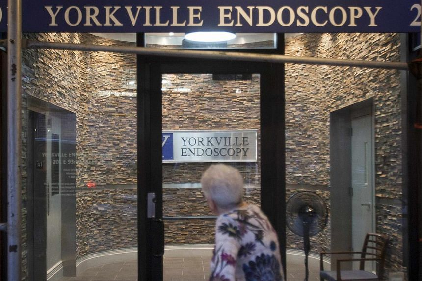 Yorkville Endoscopy Clinic in the Manhattan borough of New York where the late Joan Rivers suffered cardiac arrest. -- PHOTO: REUTERS