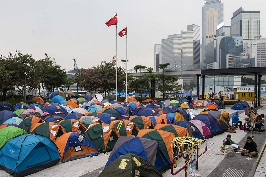 Hong Kong students plan to occupy roads surrounding the city's British consulate in anger at a lack of support from London for their pro-democracy movement. -- PHOTO: REUTERS