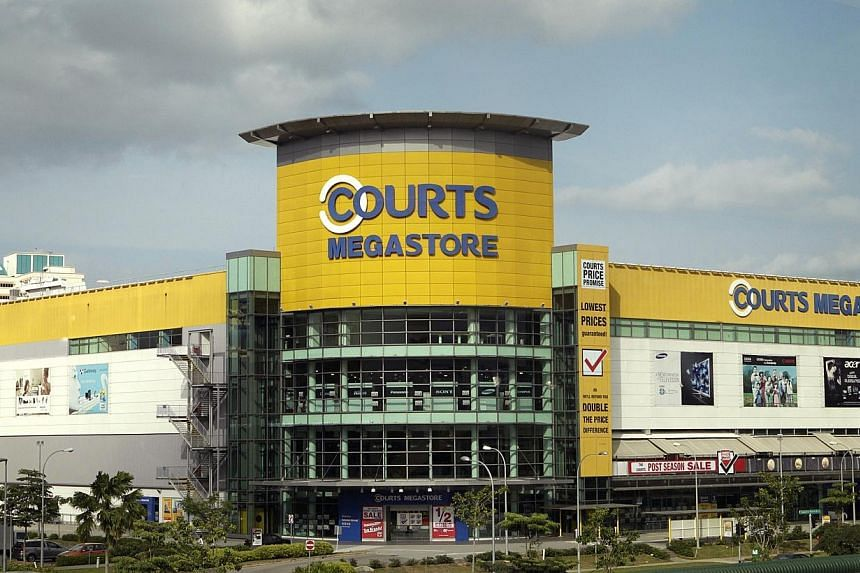 A lackluster retail environment and lower bulk sales from digital products resulted in a sharp blow to earnings at electronics and furniture retailer Courts Asia in the second quarter. -- PHOTO: ST FILE