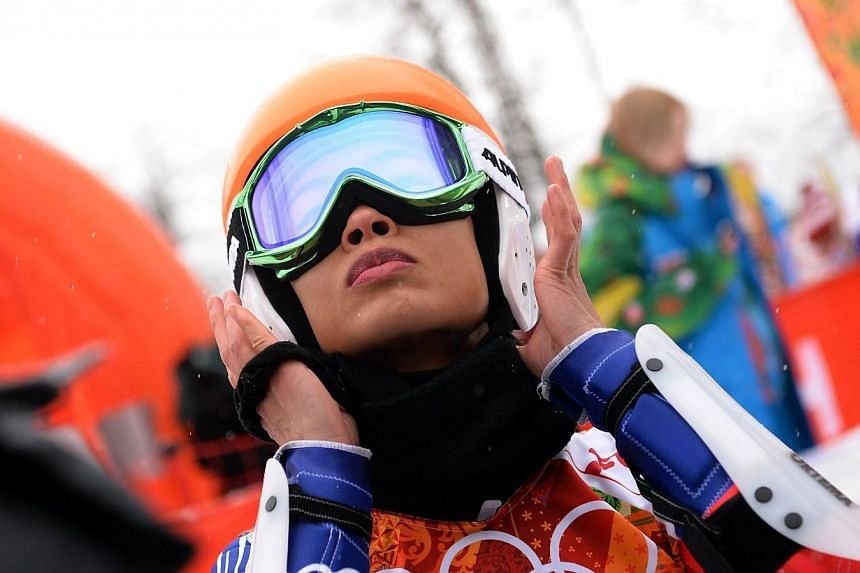Thailand's Vanessa Vanakorn aka Vanessa Mae before the start of the Women's Alpine Skiing Giant Slalom Run 1 at the Rosa Khutor Alpine Center during the Sochi Winter Olympics on Feb 18, 2014.British violinist Vanessa Mae is in the news after be