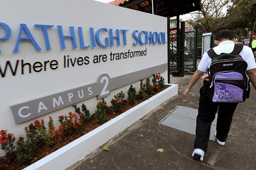 Five special education schools, such as Pathlight, have started a new school-to-work transition programme that aims to give their students greater support to move on to the workplace. -- PHOTO: NP FILE