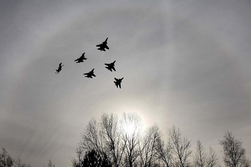 Eight northern European nations agreed on Wednesday to step up cooperation to counter an increase in Moscow's military activity that has included a tripling of NATO intercepts of Russian jets this year. -- PHOTO: REUTERS