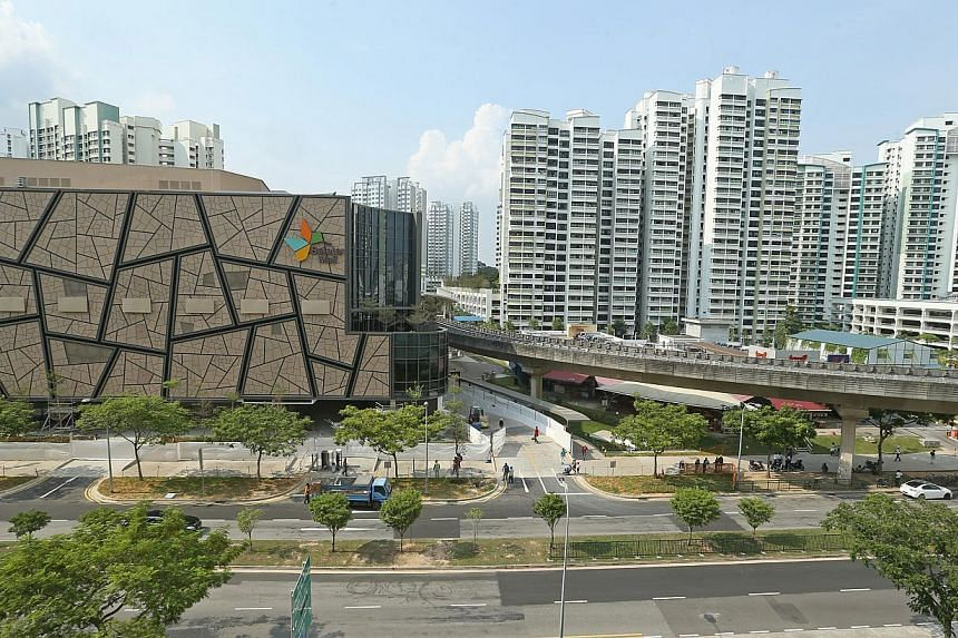 The new Seletar Mall, to be unveiled on Nov 28, 2014, will be located in the quiet neighbourhood of Fernvale in Sengkang. -- ST PHOTO: SEAH KWANG PENG