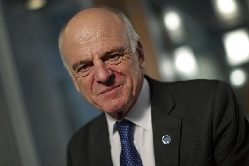 David Nabarro, the senior UN coordinator for the international response to Ebola, poses during an interview with Reuters at the UN headquarters in New York Oct 8, 2014. Nabarroon Wednesday encouraged tourists to visit West Africa, saying Liberi