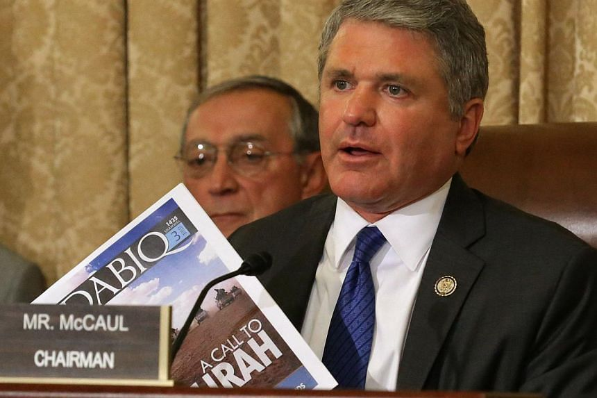"""Homeland Security Committee chairman Michael McCaul, seen here (above) in a September 2014 file photo, said in an op-ed for Time Magazine on Wednesday thatEuropean security shortcomings have created a """"jihadi superhighway"""" allowing countless ba"""