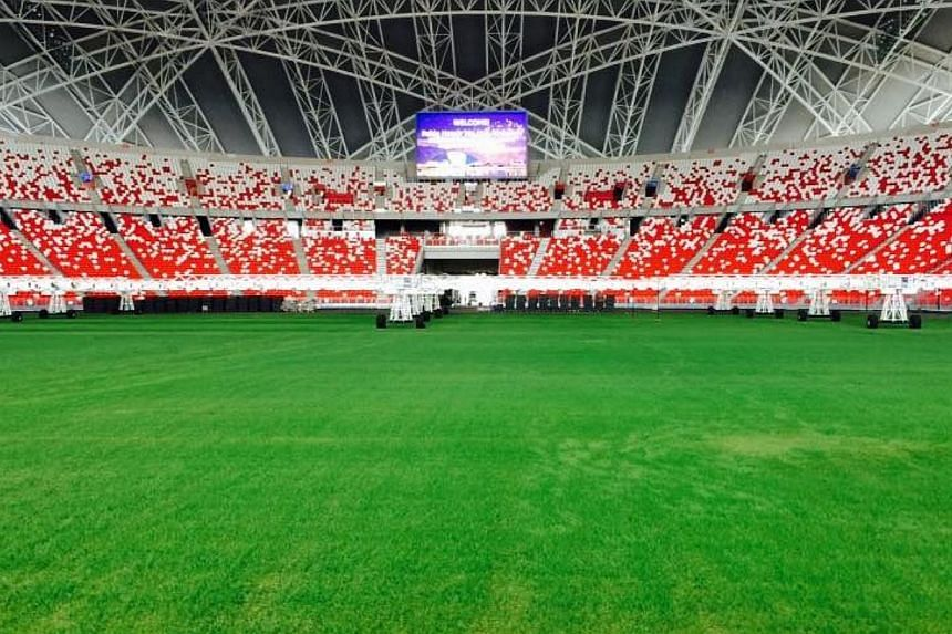 The money poured into reviving the field at the National Stadium has been paid off - the previously sandy ground now looks like an emerald carpet. -- PHOTO:ZAINUDIN NORDIN/FACEBOOK