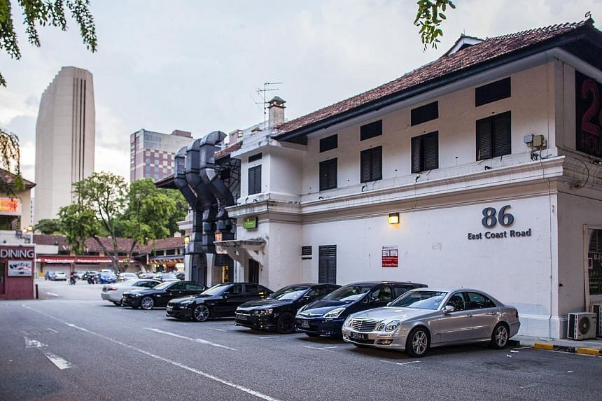 The former Joo Chiat Police Station, which is in an area dotted with historic conservation shophouses, is now occupied by a restaurant and is part of Katong Village, a collection of food and entertainment outlets. -- PHOTO: ST FILE