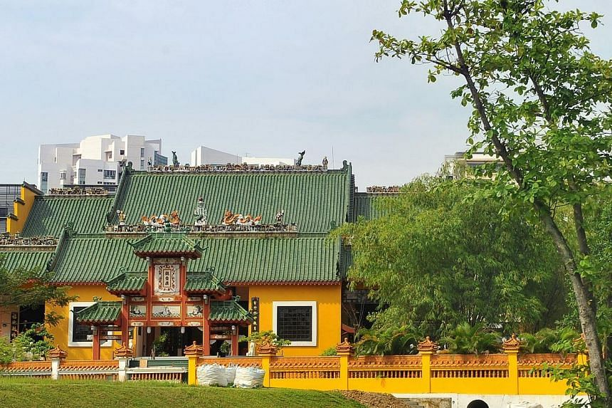 The temple of the Singapore Kwong Wai Siew Peck San Theng in Bishan. -- PHOTO: ST FILE