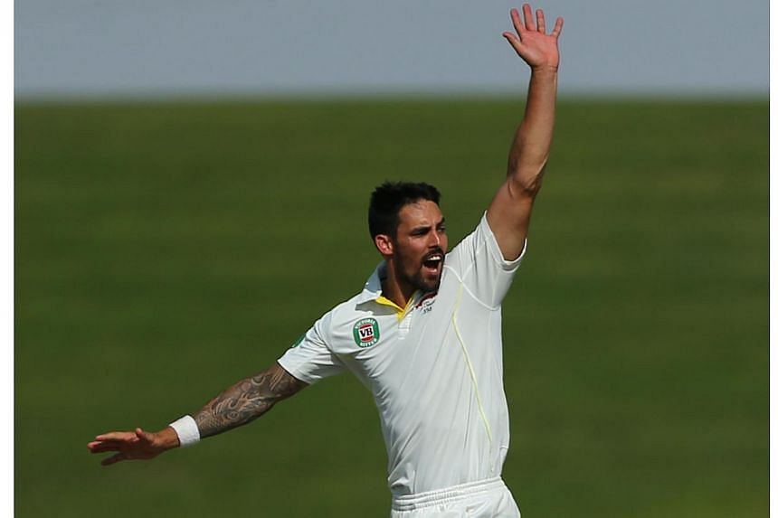 Australia fast bowler Mitchell Johnson has matched compatriot Ricky Ponting's feat of winning the International Cricket Council's (ICC) Cricketer of the Year award twice, the governing body said on Friday. -- PHOTO: AFP