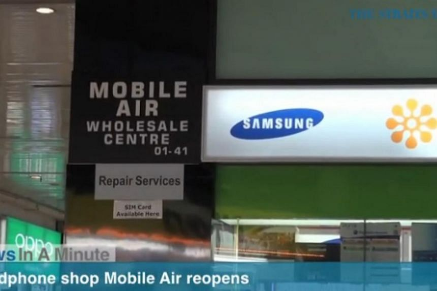 In today's News In A Minute, we look at the reopening of the infamous Sim Lim mobile retailer Mobile Air. -- SCREENGRAB FROM RAZORTV VIDEO