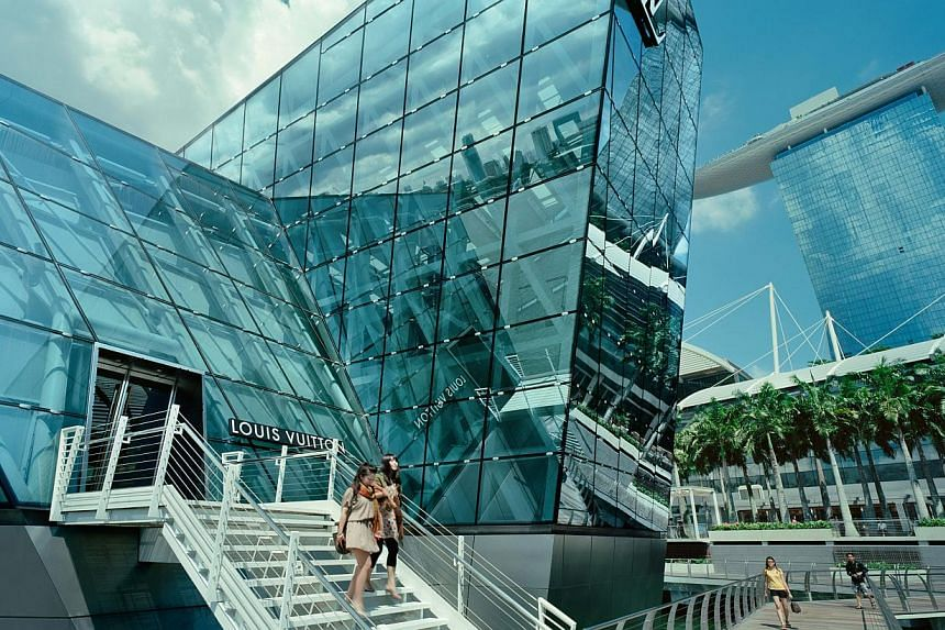 The Shoppes at Marina Bay Sands has a well-trained retail concierge team that can provide personalised assistance and customised shopping itineraries. -- PHOTO: TIMOTHY HURSLEY