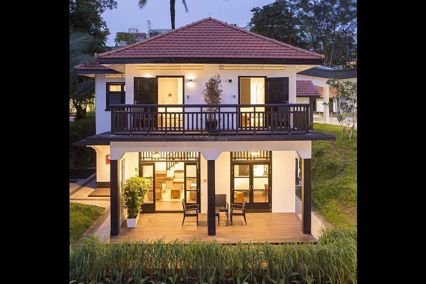 Starting at Rochester Park, off North Buona Vista Road, there are numerous black-and-white bungalows built in the 1940s to house British military soldiers stationed at Pasir Panjang Military Complex and their families.--PHOTO: DP ARCHITEC