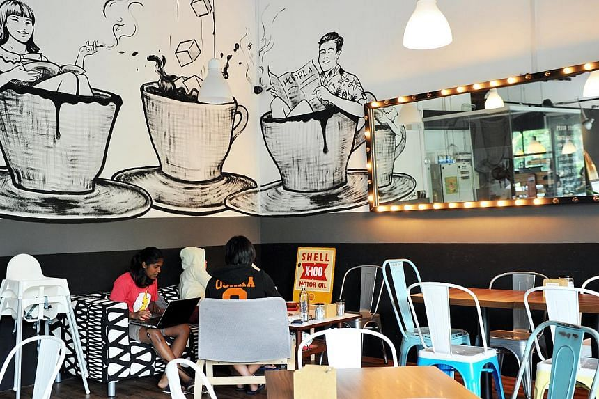 Part of the appeal for hipsters is that the location of a cafe must be a little off-the-beaten track.--PHOTO: RUDY WONG