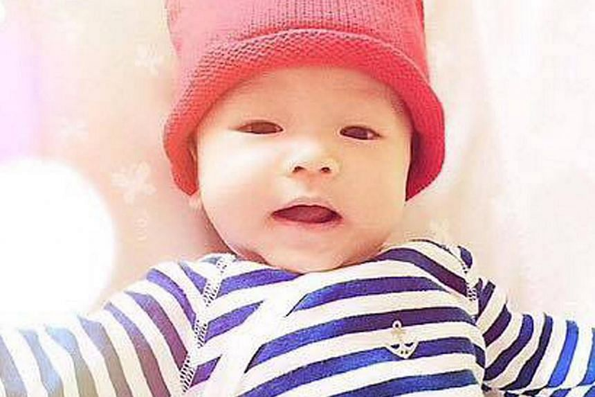 Actress Fann Wong is fine about losing the limelight she and her husband, actor Christopher Lee, used to get to their first child, three-month-old son Zed (above).-- PHOTO: FACEBOOK