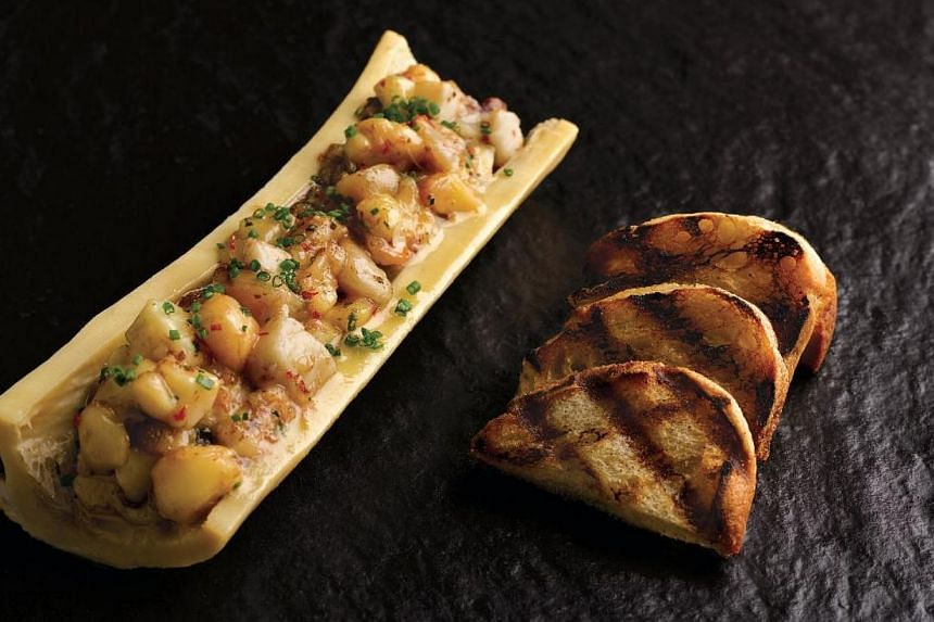Baked Bone Marrow with Chilli and Konbu from The Black Swan. -- PHOTO: THE BLACK SWAN