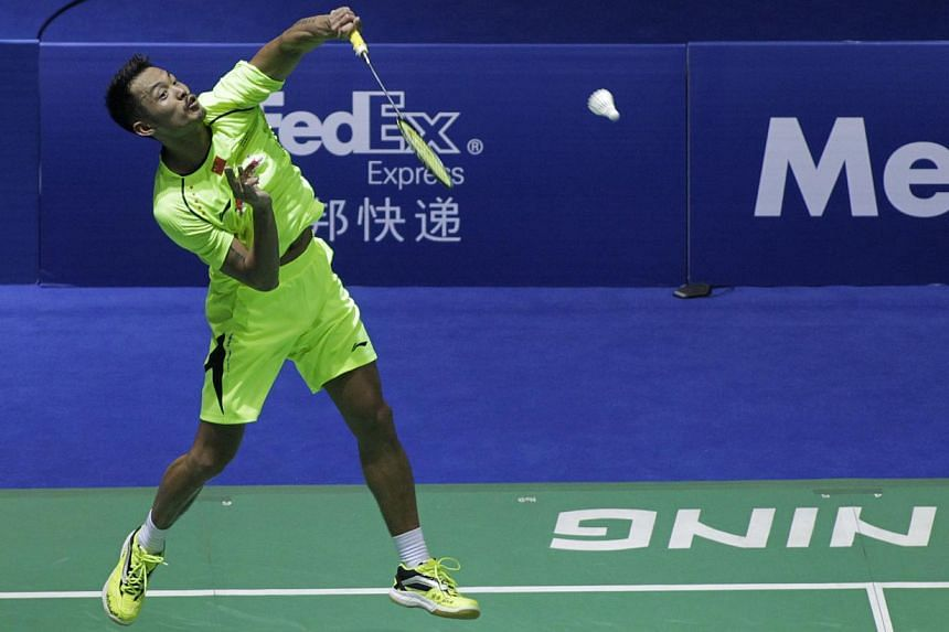 China's badminton superstar Lin Dan cruised into the finals of the China Open on Saturday, beating Taiwanese rival Chou Tien-chen 21-17, 21-17. -- PHOTO: AFP