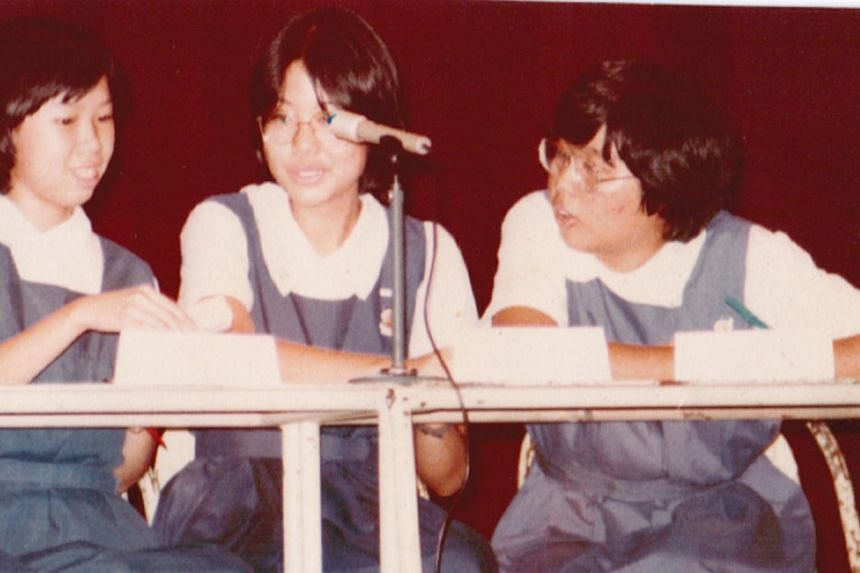 Prof Lily Kong and with her classmates (above, left).--PHOTO: NATIONAL UNIVERSITY OF SINGAPORE