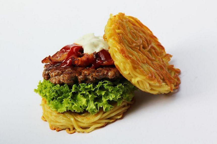 Ramen Burger. -- PHOTO: LITTLE HIRO