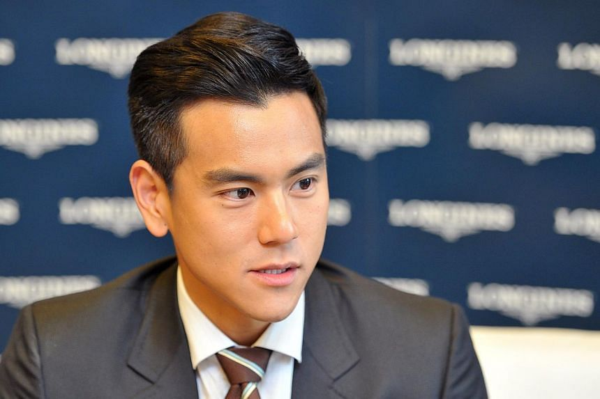 Taiwanese actor Eddie Peng during a media interview at Fullerton Bay Hotel on Nov 16, 2014. -- ST PHOTO: LIM YAOHUI