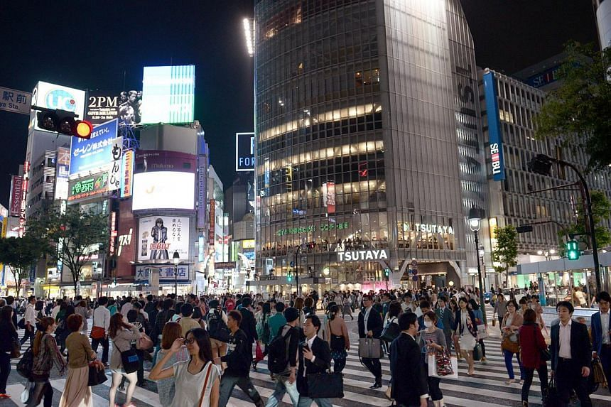 The iconic Shibuya traffic intersection in Tokyo, Japan. -- PHOTO: ST FILE