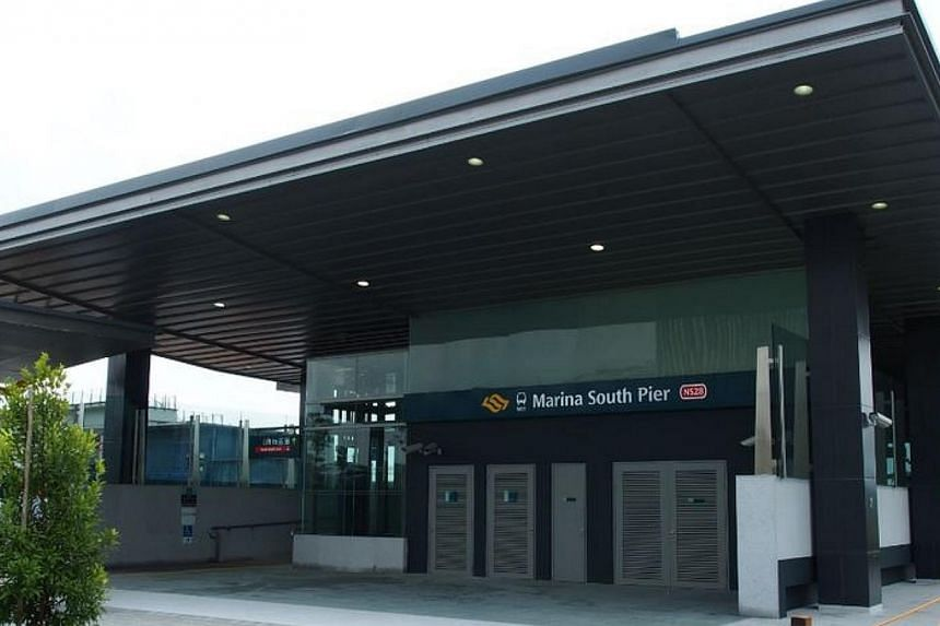 The Marina South Pier station will open for passenger service this Sunday. -- PHOTO: TWITTER/LAND TRANSPORT AUTHORITY