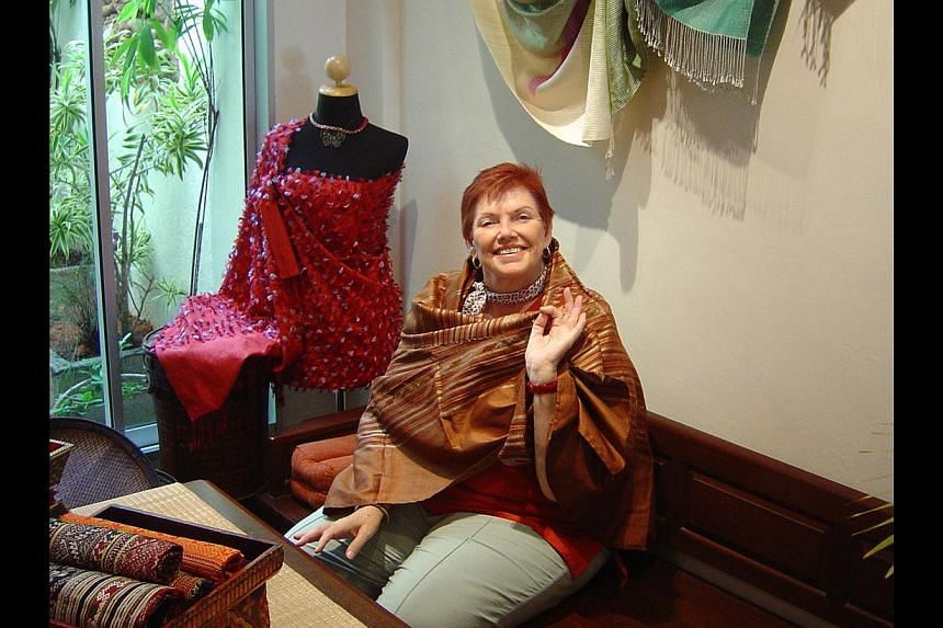"""Mrs Geraldene Lowe-Ismail leading a group on an """"Antiques – Best Price Lah!"""" tour in 2003; in a photo taken in 1984; and at the home of antique collector Percy Vatsaloo (above) in 2004, which is one of the stops on her tours. -- PHOTO: TRISH HA"""